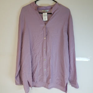 Orvis Silk Charmeuse Tunic Purple Size Large